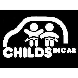 カッティングステッカー CHILD IN CAR全3色  車 バイク アメリカン デカール セーフティー|aicamu