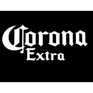 カッティングステッカー コロナ エキストラ Sサイズ (全2色) 車 バイク アメリカン ビールCorona Extra デカール|aicamu