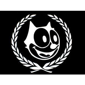 ステッカー フィリックスとリーフ 全2色 FELIX キャデラック 車 バイク アメリカン ステッカー キャラクター|aicamu