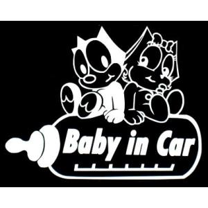 ステッカーFELIX baby in car (全3色)車 バイク アメリカン フィリックス セーフティ デカール キャラクター 赤ちゃん|aicamu