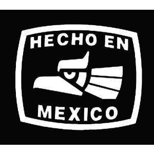カッティングステッカー HECHO EN MEXICO Lサイズ  車 バイク アメリカン デカール メキシコ|aicamu