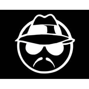 カッティングステッカー ローライダーマン(Lサイズ)(全2色 ホワイト/ブラック)車 バイク アメリカン LOWRIDER デカール|aicamu