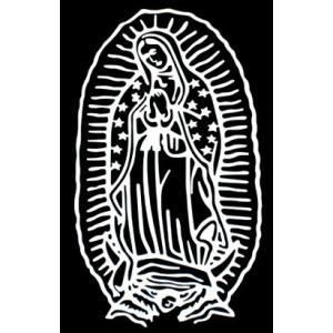 カッティングステッカー マリア(小) (全4色)メキシコ 聖母グアダルーペ 車 バイク アメリカン デカールステッカー|aicamu