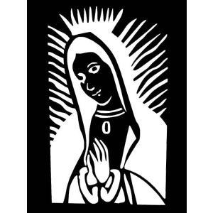 カッティングステッカー グアダルーペ マリア(上半身)サイズS(全3色)車 バイク アメリカン メキシコ聖母 maria デカール|aicamu