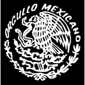 カッティングステッカー ORGULLO MEXICO Sサイズ(全2色)車 バイク アメリカン メキシコデザイン デカール|aicamu