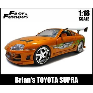 1/18 ワイルドスピード ミニカー 箱入り Brian's TOYOTA SUPRA オレンジ トヨタスープラ アメ車 ブライアンモデル|aicamu