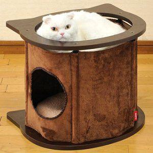ボンビアルコン MOKU キャットハウス C型 猫タワー 猫サークル つめ磨き 猫用品|aicarrot