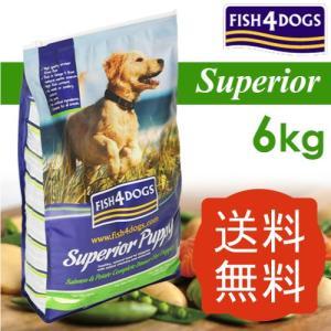 フィッシュ4ドッグ スーペリア パピー 6kg  ビィプラスおやつサプリプレゼント中!送料無料 |aicarrot