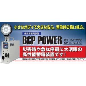 BCP POWER非常用蓄電池装置(Li-Fe4.6-12)バッテリー12V4.6Ah・LEDランプ・USBポート アルプス計器|aida-sangyo