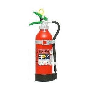 自動車用ABC粉末消火器6型/薬剤質量1.8Kgアルミ製ブラケット付(PAN-6AG)日本ドライケミカル(nogu) aida-sangyo