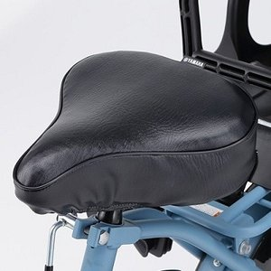 ヤマハ電動アシスト自転車用サドル カバークッション性があり、マジックテープ固定で簡単に装着可能。(品番Q5KYSK051G02)|aida-sangyo