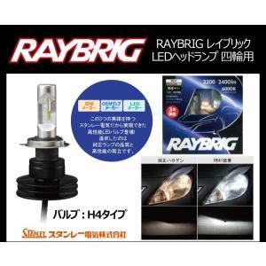 RAYBRIG(レイブリック)ヘッドランプ用LEDバルブ (12・24V 21/21W) H4 ホワイト 2個入 四輪用(品番 RK41)スタンレー電気(emp)|aida-sangyo