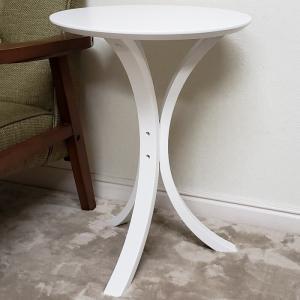 サイドテーブル 【直径40cm、高さ約54.5cm】 お客様による組立が必要です。  ★送料合計は何...