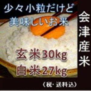 令和元年 福島県会津産コシヒカリ 少々小粒 玄米30kg(精米無料)|aidunomegumi