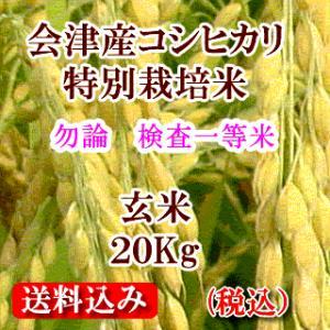 令和元年 福島県会津産コシヒカリ(特別栽培米)  玄米20kg(精米無料)|aidunomegumi