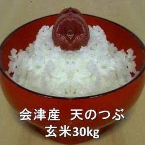 【ふくしまプライド。対象商品】 H30 会津産天のつぶ 玄米30kg(精米無料)|aidunomegumi