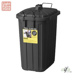 メーカー直送 代引不可 同梱不可 返品不可 ペールカン 60L ブラック  az-lfs-937bk|aifa
