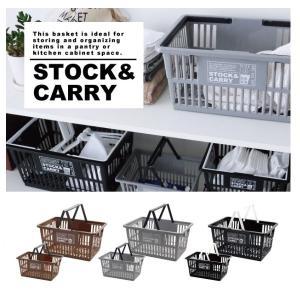 小物入れ かご バスケット STOCK&CARRY マーケットバスケット Lの写真