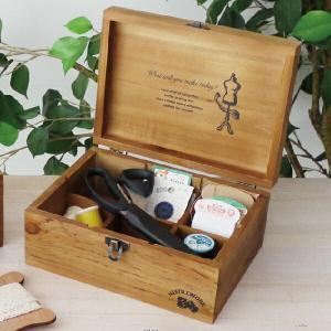ソーイングセット NEEDLEWORK ウッド ソーイングボックス(L)  ge-a318  裁縫箱...