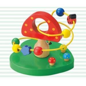 ウッデントイ ビーズコースターきのこキッズ 子供 子ども おもちゃプレゼント おもちゃ 知育玩具 ma-4006261-00smtb-k w2|aifa