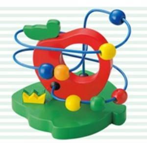 ウッデントイ ビーズコースターりんごキッズ 子供 子ども おもちゃプレゼント おもちゃ 知育玩具 ma-4006262-00smtb-k w2|aifa