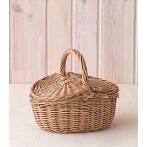 ウィッカーバスケットウィッカーバスケット バスケット 収納 かご収納ボックス 小物入れ ナチュラル かわいいピクニック 手提げ ふた付きpo-10578の写真