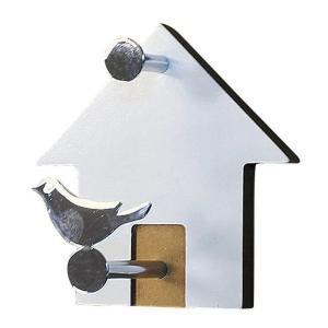 CUKKO HOUSE WALL HOOKS WHITE sp-wkw217wh