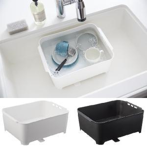 洗い桶 おしゃれ 水止栓付き 角型 スリム コンパクト 食器洗い 水切り キッチン洗い桶 タワー tower|aifa