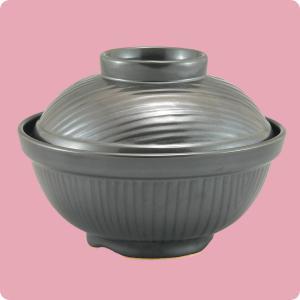 かやく丼(蓋付)(黒マット)|aigineo