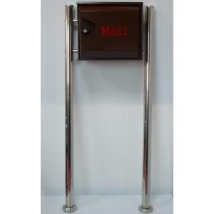 郵便ポスト郵便受けおしゃれかわいい人気北欧モダンデザイン大型メールボックススタンド型プレミアムステンレスブラウン色ポストpm042s aihome