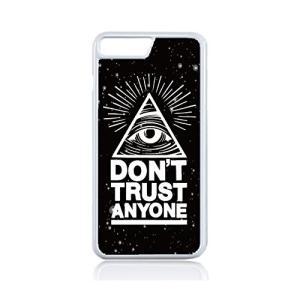 06ecd09ce7 iPhone・iPod touch 6 用ハードケース ホワイトフレーム 【フリーメイソン freemason イルミナティ  illuminatiプロビデンスの目 DON'T TRUST ANYONE】宇宙