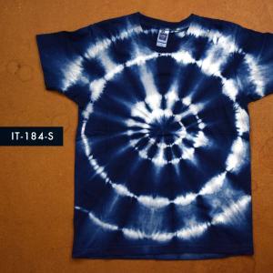 藍染めTシャツ Sサイズ(IT-184-S)|aiira-ensyu