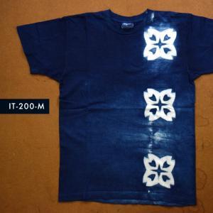 藍染めTシャツ Mサイズ(IT-200-M)|aiira-ensyu