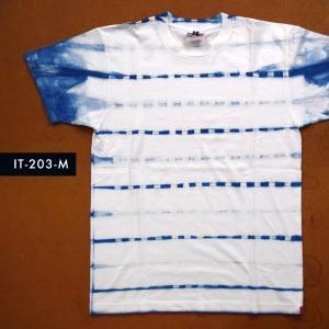 藍染めTシャツ Mサイズ(IT-203-M)|aiira-ensyu