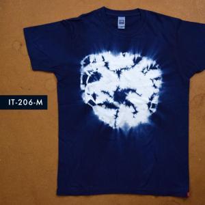 藍染めTシャツ Mサイズ(IT-206-M)|aiira-ensyu