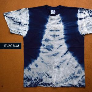 藍染めTシャツ Mサイズ(IT-209-M)|aiira-ensyu