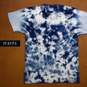 藍染めTシャツ Lサイズ(IT-317-L)|aiira-ensyu