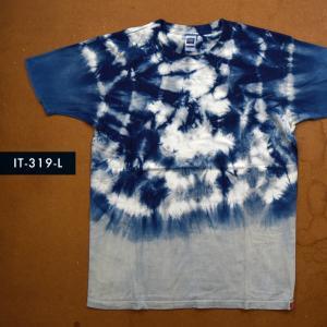 藍染めTシャツ Lサイズ(IT-319-L) aiira-ensyu