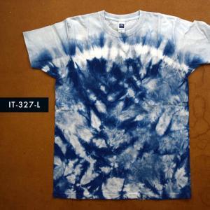 藍染めTシャツ Lサイズ(IT-327-L) aiira-ensyu