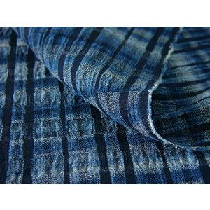 藍染雨絣二重織 307(NJ20205073)|aiira-ensyu