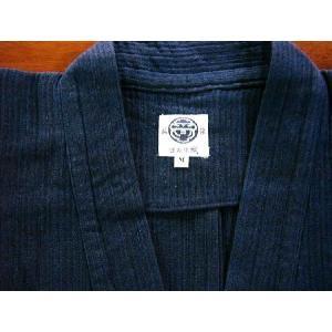 作務衣【厚地】藍染二重織スラブ刺子|aiira-ensyu