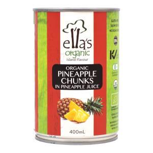 ELLA'S ORGANIC パイナップル缶 400g アスプルンド|aijyoclubecolo