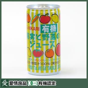 光食品 ヒカリ 有機果実と野菜のジュース 190g|aijyoclubecolo