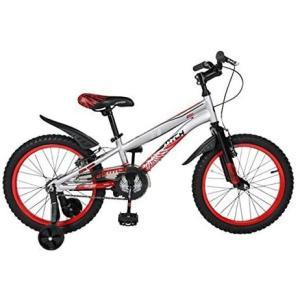 自転車 18インチ 子供自転車 数量限定キャンペーン Cyfie ホーク 6段変速 前と後ろブレーキ付き 補助輪付き おしゃれ 組み立て式 特別提供品 中字取説付き|aikikabushiki