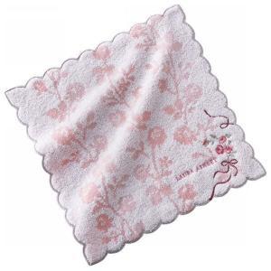 ローラ アシュレイ 婦人タオルハンカチ 花 ピンク 05735060A(のし包装メッセージカード対応不可品)|aikuru