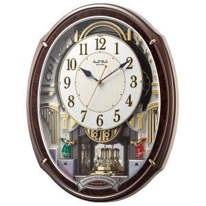 スモールワールド メロディ電波からくり掛時計(48曲入) 4MN545RH23(送料無料)(出産内祝い お返し 結婚 入学祝 ギフト 引き出物 贈答品)|aikuru