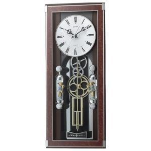 リズム メロディ電波からくり掛時計(30曲入) 4MN535SR23(送料無料)(出産内祝い お返し 結婚 入学祝 ギフト 引き出物 贈答品)|aikuru