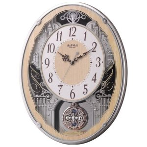 スモールワールド メロディ電波掛時計(30曲入) 4MN538RH23(送料無料)(出産内祝い お返し 結婚 入学祝 ギフト 引き出物 贈答品)|aikuru