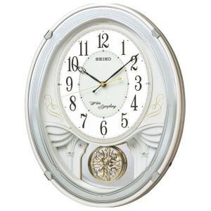 セイコー メロディ電波掛時計(18曲入) AM258W(送料無料)(出産内祝い お返し 結婚 入学祝 ギフト 引き出物 贈答品)|aikuru