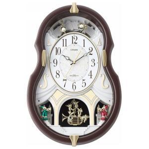 シチズン メロディ電波掛時計(12曲入) 4MN496AZ06(送料無料)(出産内祝い お返し 結婚 入学祝 ギフト 引き出物 贈答品)|aikuru
